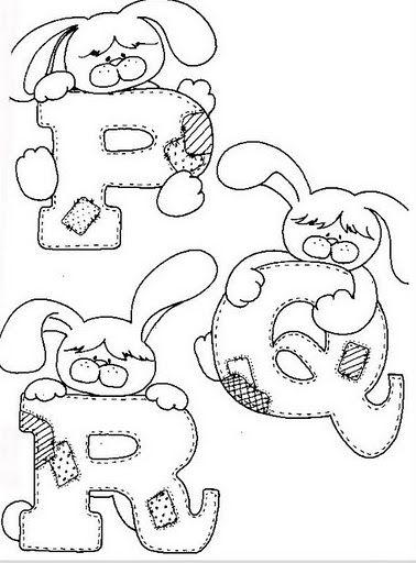 Alfabeto de conejitos para colorear. | Oh my Alfabetos! | casfra-16 ...