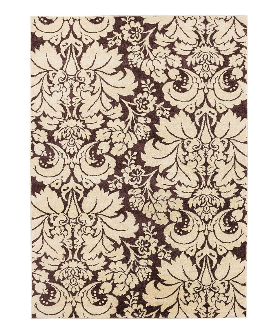 Look what I found on #zulily! Brown Sydney Damask Toile Rug by Well Woven #zulilyfinds