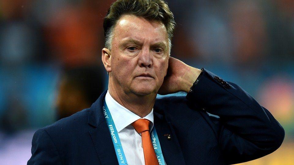 Head Coach Louis Van Gaal Of The Netherlands Reacts
