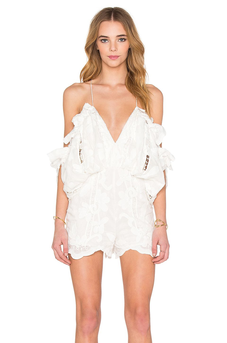 2b1a72e465 Alice McCall Shake It Off Romper in Porcelain