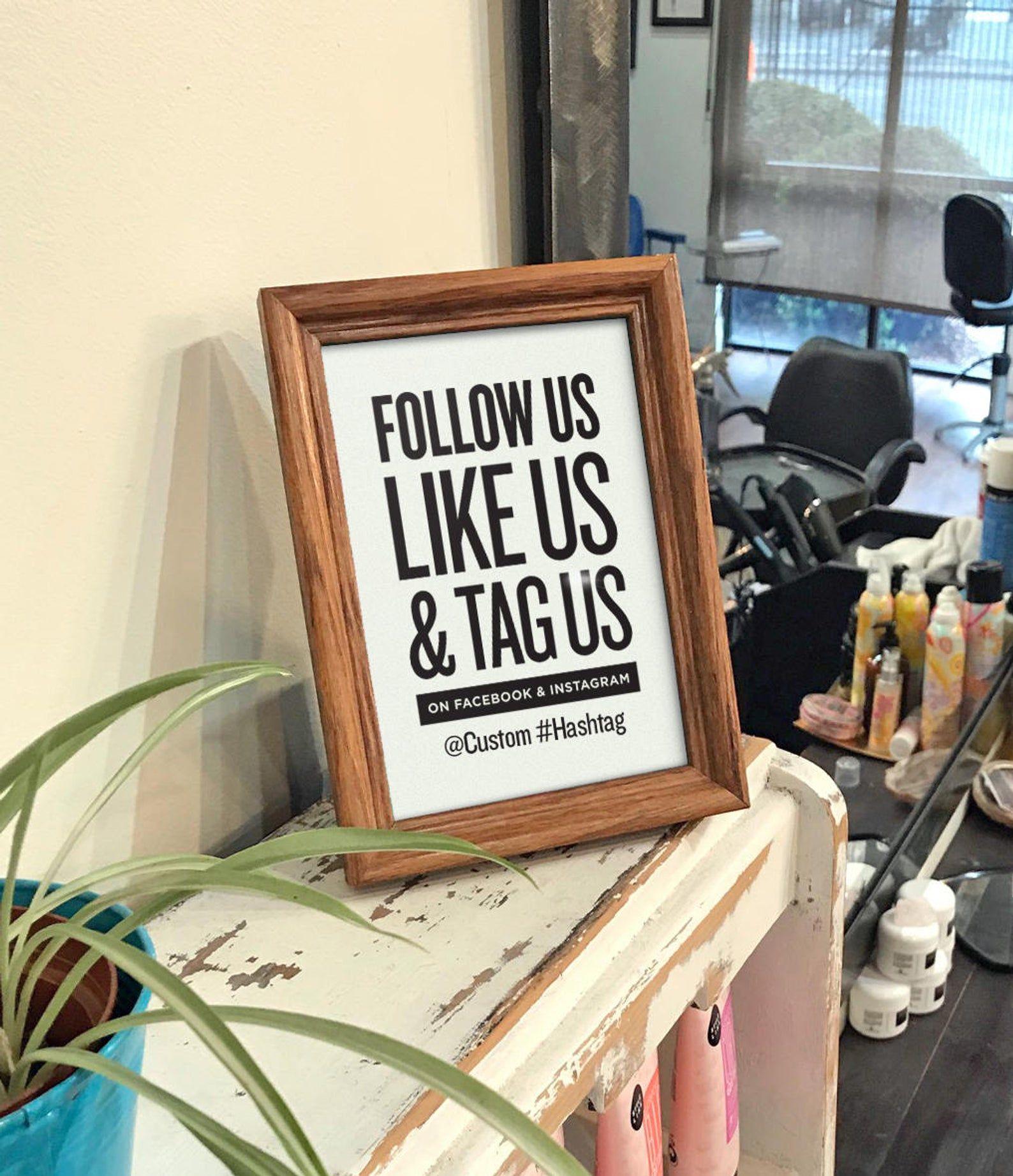 Volg Ons Net Als Wij Tag Ons Op Facebook En Instagram Met Etsy Beauty Salon Decor Salon Decor Nail Salon Decor