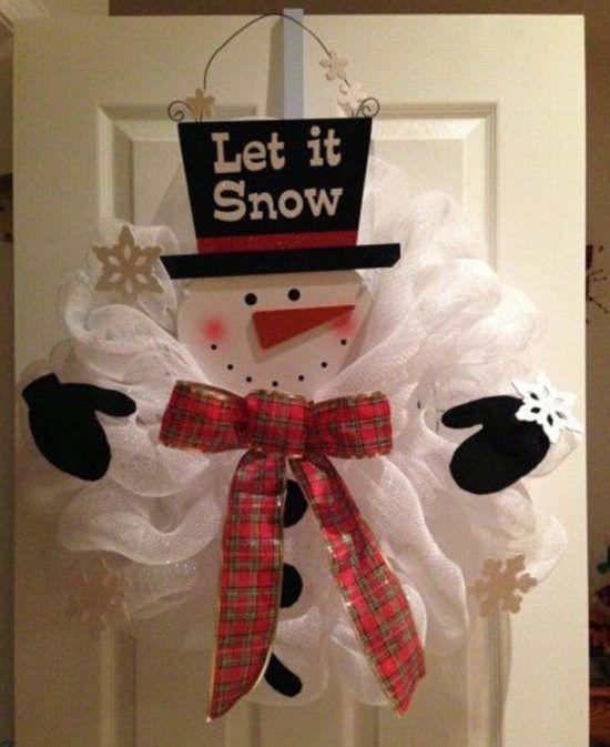 Make Snowman Wreath With Deco Mesh Video Tutorial Snowman