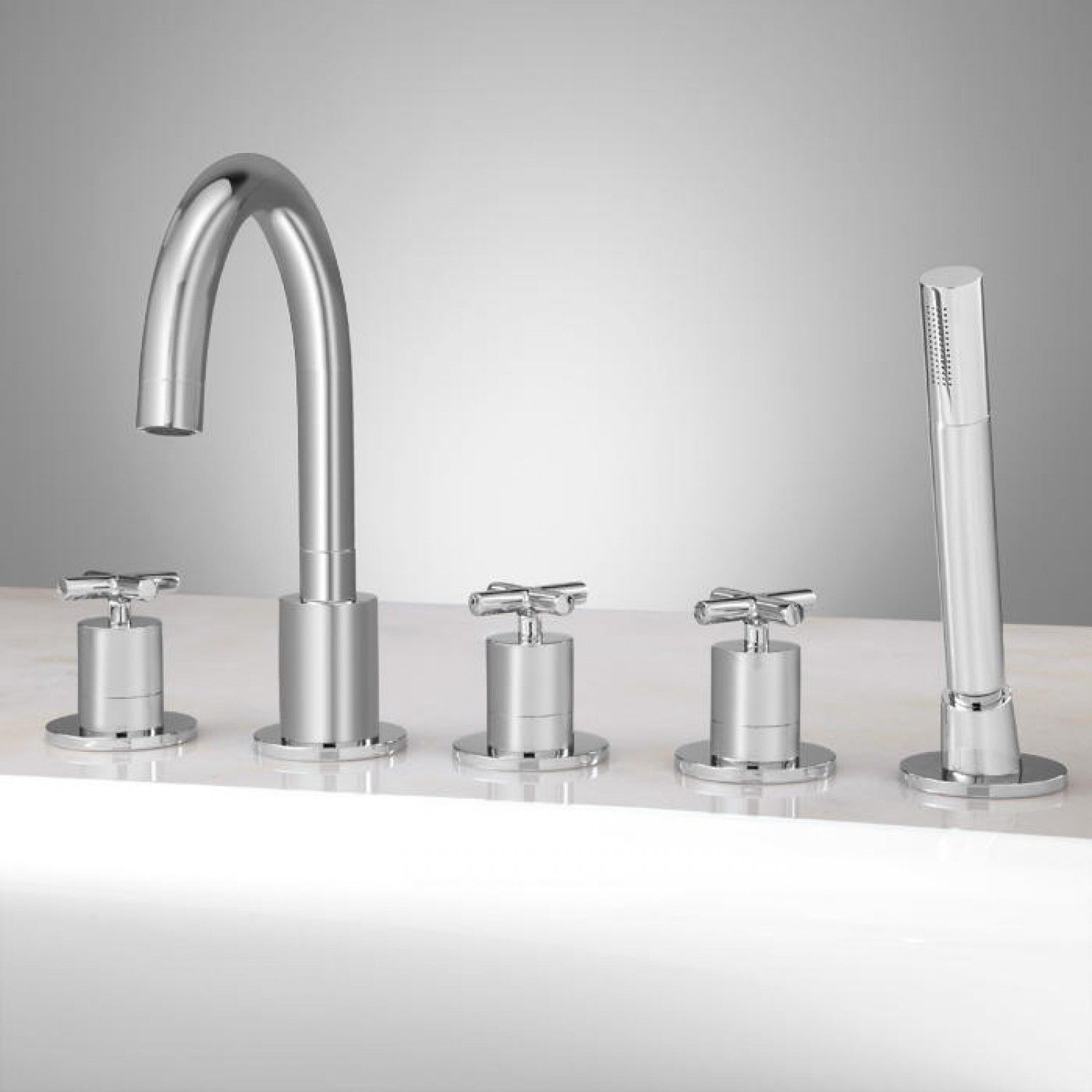 Exira Roman Tub Faucet And Hand Shower Bathroom With Images