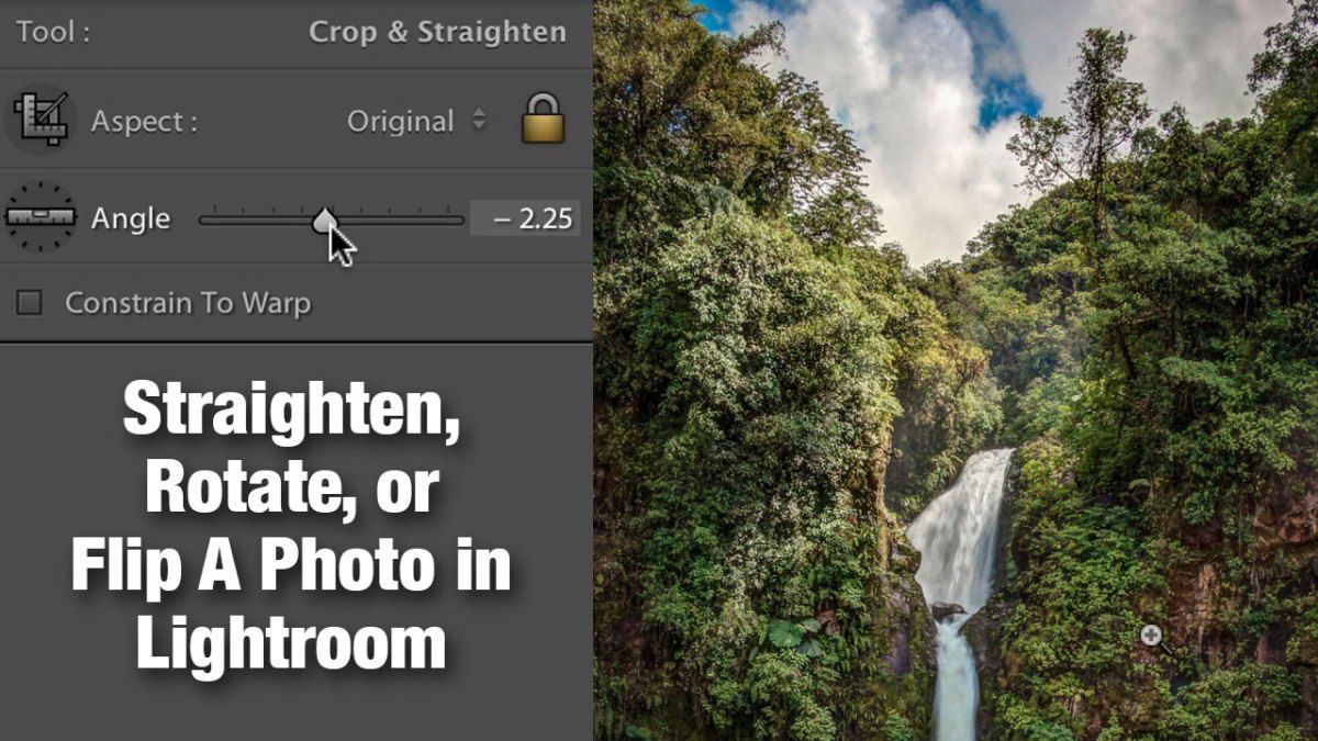 Note: This post is from our bookDevelop Great Images in Lightroom (available on iBookstore & Scribd). A crooked photo can be downright distracting (unless you really wanted it that way of cour...