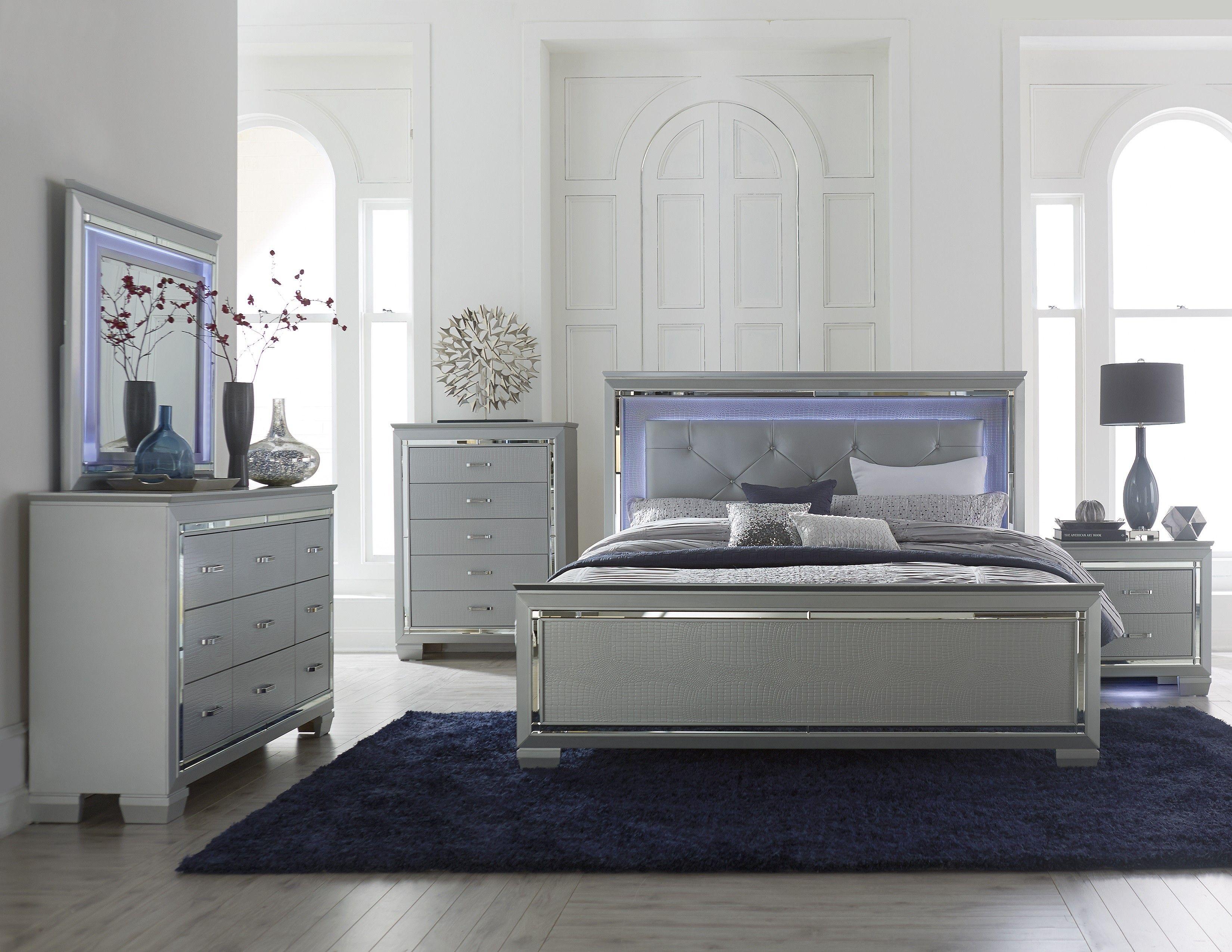Modern Silver Grey Bedroom | BEDROOM | Pinterest