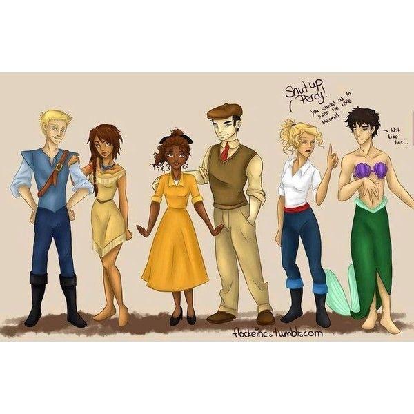 f4b41525b Disney and Percy Jackson crossover soo funny. | Disney | Pinterest ❤ liked  on Polyvore
