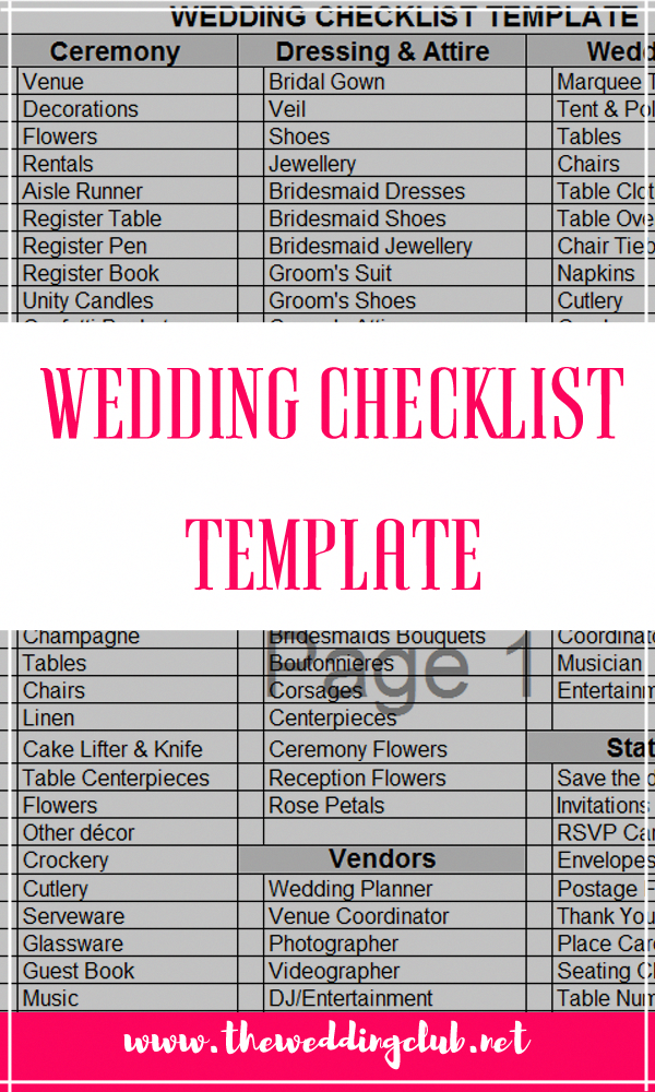 wedding checklist template the complete guide to wedding binder