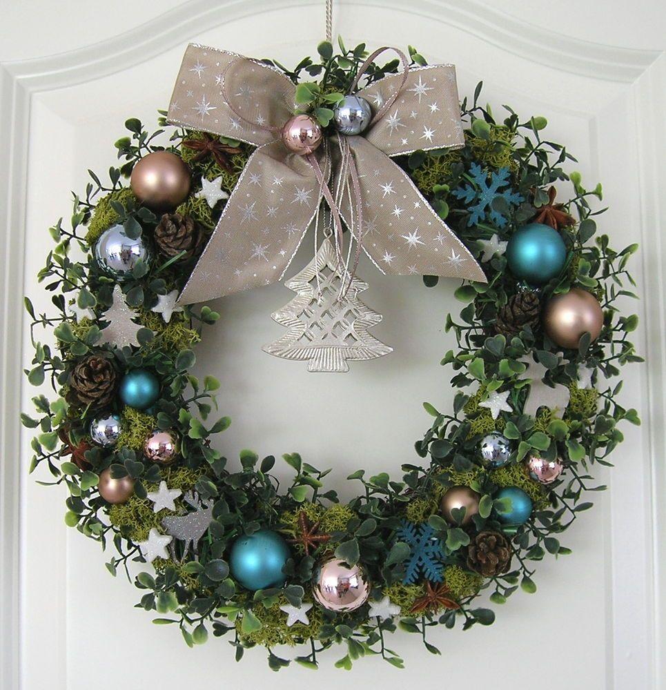 weihnachtskranz blau adventskranz wandkranz t rkranz. Black Bedroom Furniture Sets. Home Design Ideas