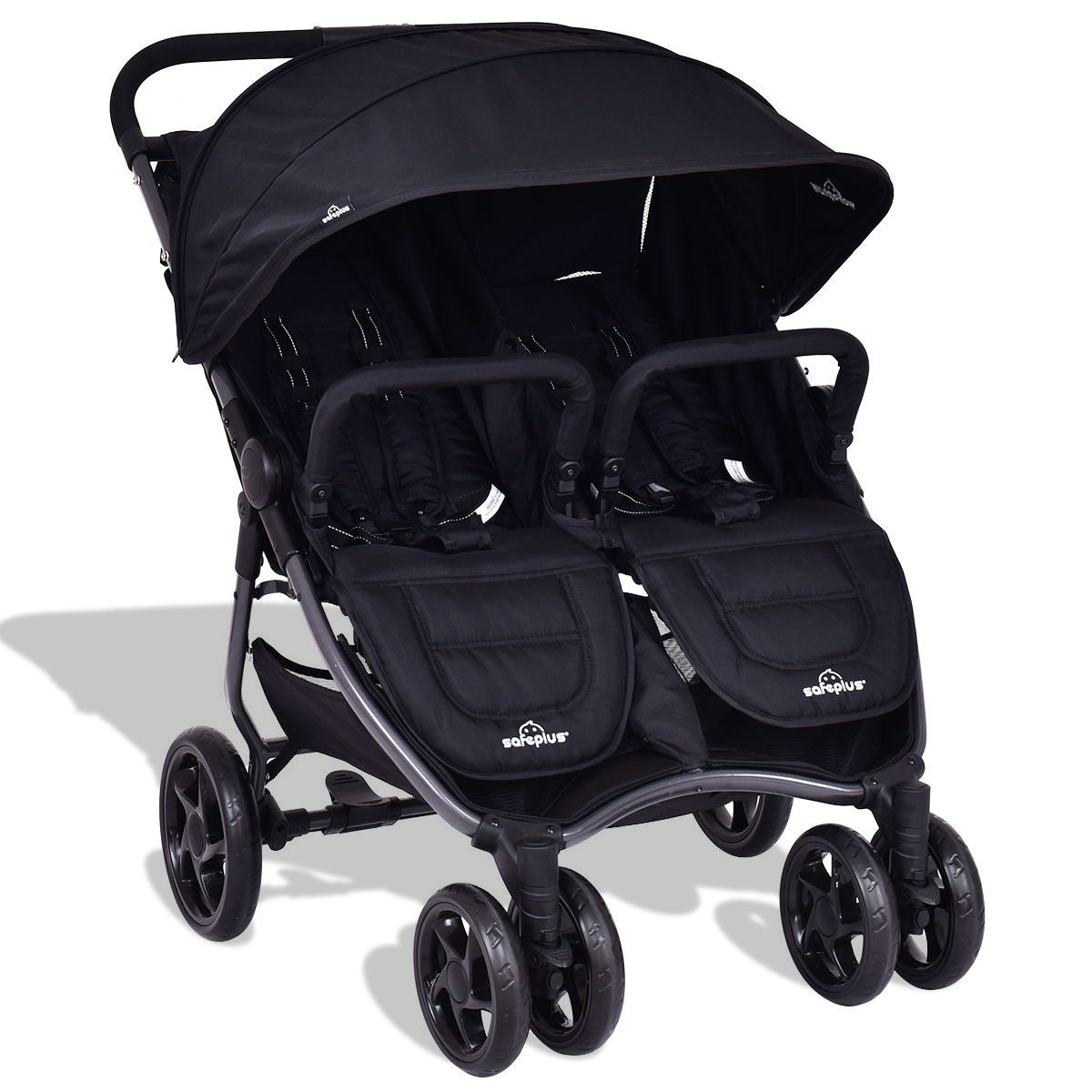 Foldable Lightweight Aluminum Double Baby Travel Stroller