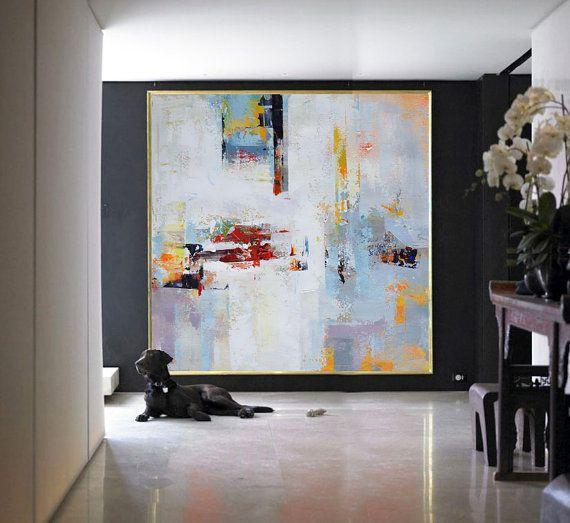 Handgefertigte große zeitgenössische Kunst Gemälde, Original Kunst ...