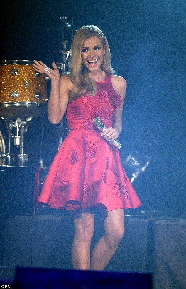 Belting out her hits: Katherine Jenkins also performed in a flirty ...