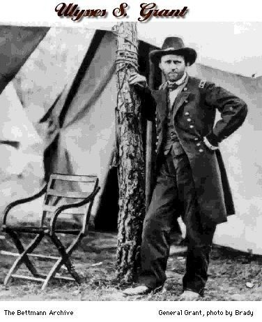 Civil War Folding Arm Chair. General Grant