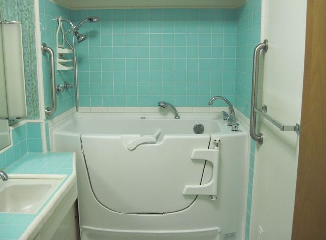 Walk-In Tub for the tiny shower in the master. Is this too old ...