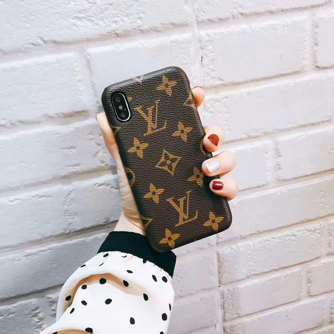 Louis Vuitton Monogram Phone Case Iphone X 7 8 6s Plus Brown Phone Case Monogram Monogrammed Phone Cases Iphone Phone Cases