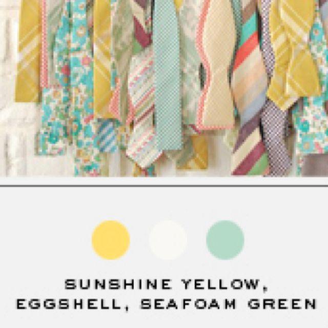 Seafoam Green Wedding Ideas: Sunshine Yellow, Eggshell, Seafoam Green