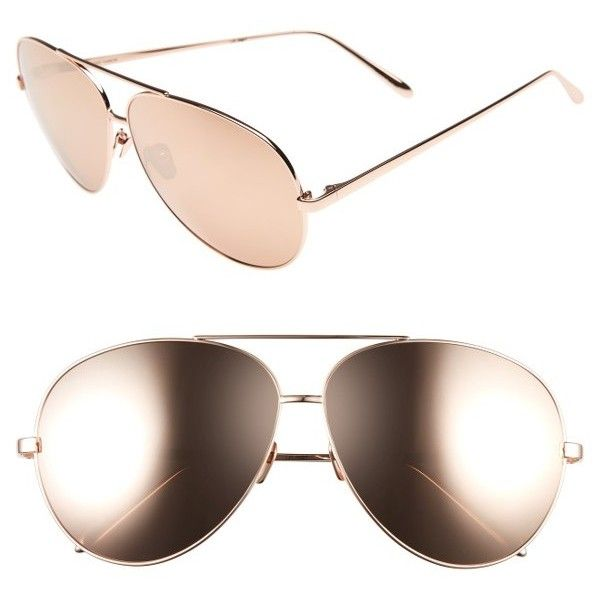 4b80303f2e9 Women s Linda Farrow 64Mm Aviator Sunglasses ( 1