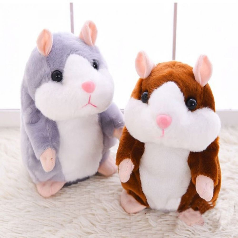 3 Color Interaction Talking Hamster Kids Baby Talking Toys Plush
