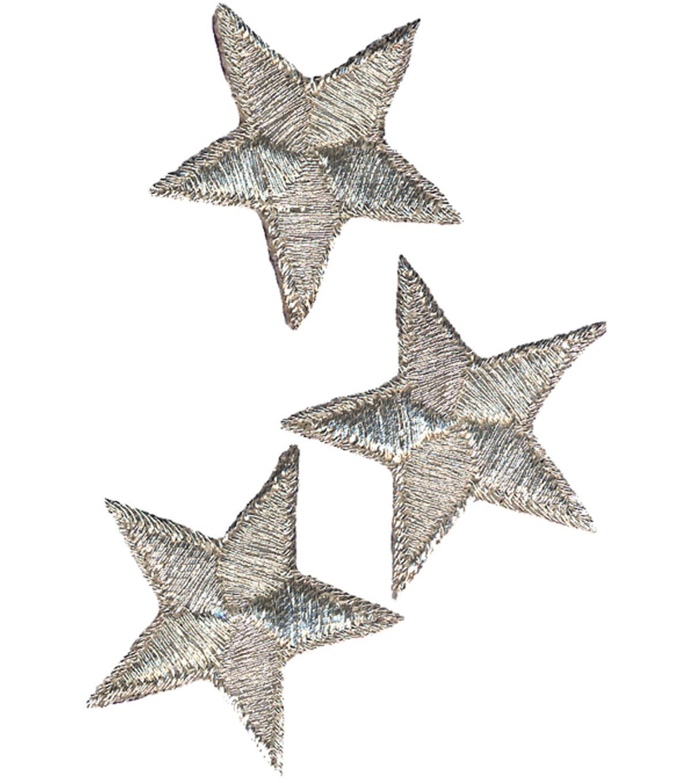 Wrights Iron On Appliques Silver Metallic Stars 2 3 Pkg Joann Iron On Applique Metallic Silver Metal