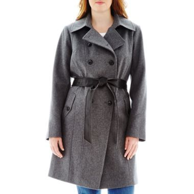 7fec14fc10a a.n.a® Double-Breasted Belted Wool-Blend Coat - Plus found at  JCPenney