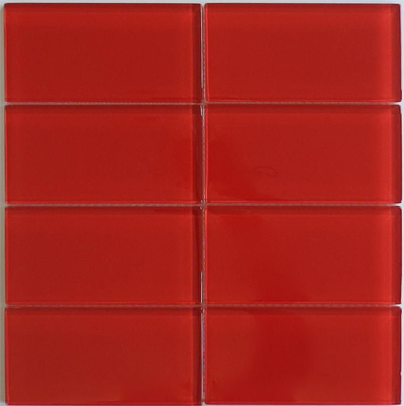 Glass Subway Tile 3x6 Tomato Red Tile Perfect For Any Tile
