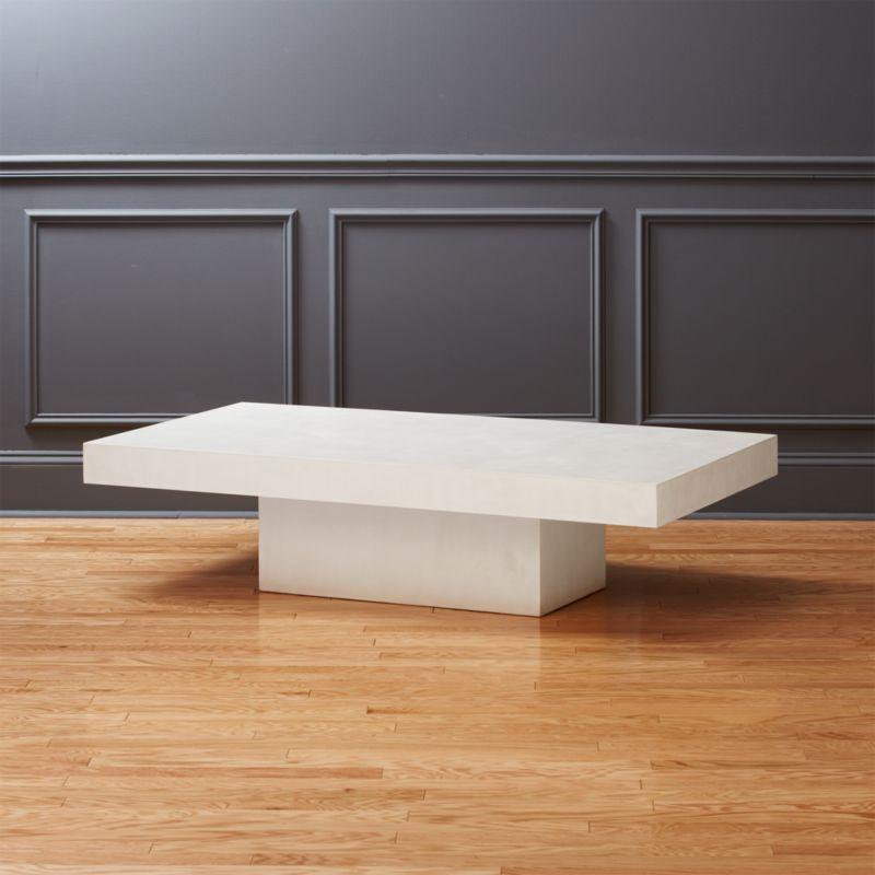 Shop Element Rectangular Ivory Coffee Table A Larger Rectangular