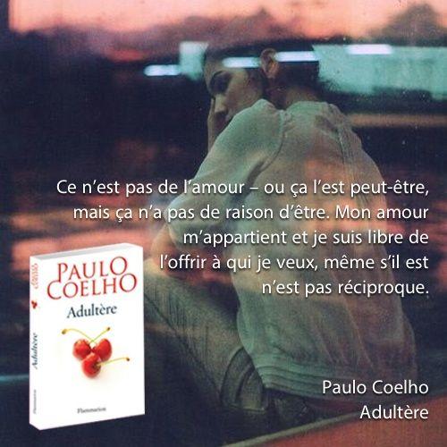 Adultère Paulo Coelho Amour Love Adultery Book Novel
