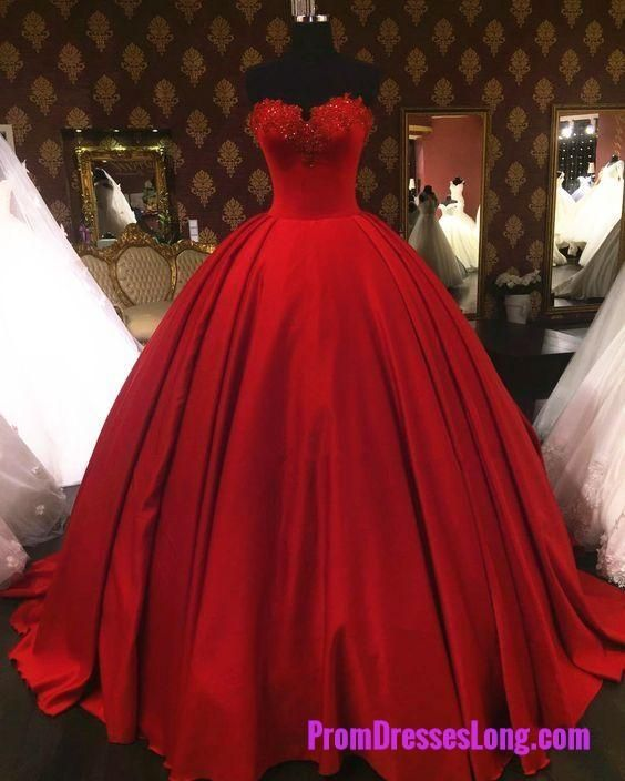 Quinceanera Dresses Lovely Sweetheart Red Wedding Dresses Ball Gowns Vintage Wedding Gowns Satin Wedding Dr Satin Wedding Gown Simple Prom Dress Red Ball Gowns