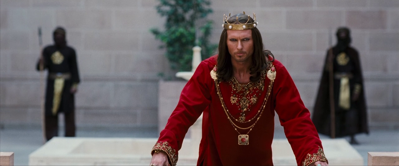"""Luke Goss as King Xerxes from """"One Night with the King ..."""