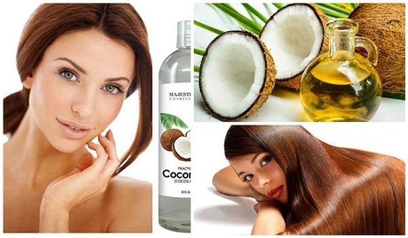 Como Poner El Aceite De Coco Para Eliminar Canas Y Evitar La Caída Del Cabello Hair Mask Beauty Coconut Oil