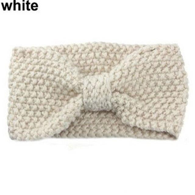 1PC Women\'s Crochet Bow Knot Turban Knitted Head Wrap Hairband ...
