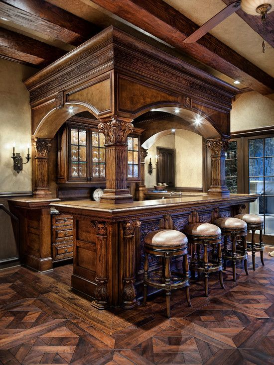 Rich Wooden Bar