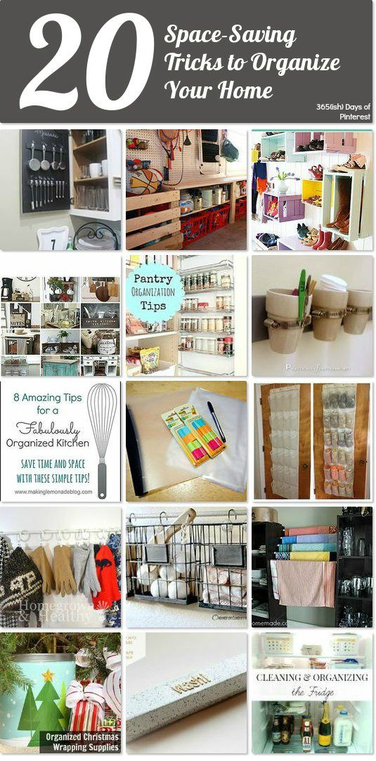 20 space-saving tricks to organize your home