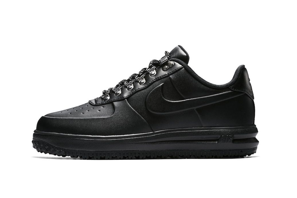 """7d2ad56a5 Nike Unveils a """"Triple Black"""" & """"Sequoia"""" Colorway of its Rugged Lunar  Force 1 Duckboot Low"""