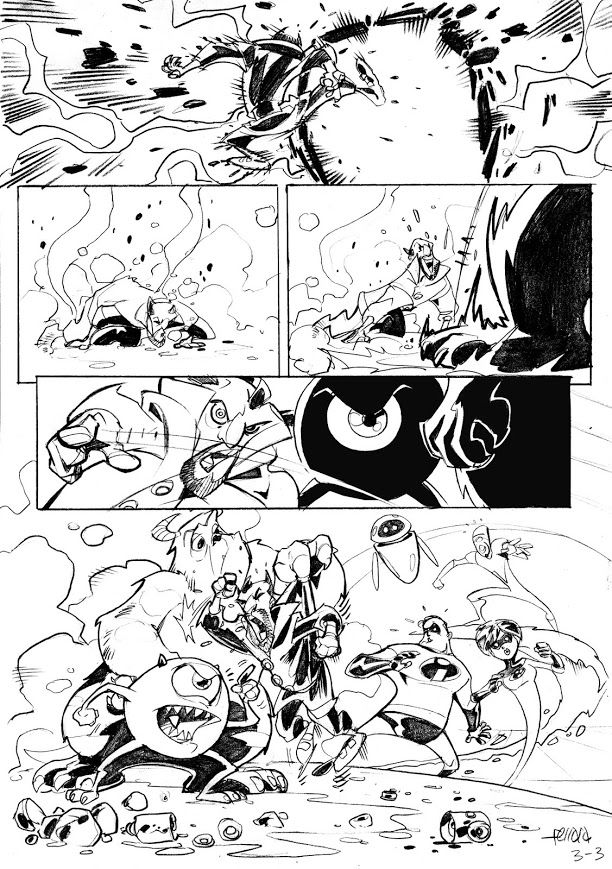 PIXAR Sample Page by Eduardo Ferrara