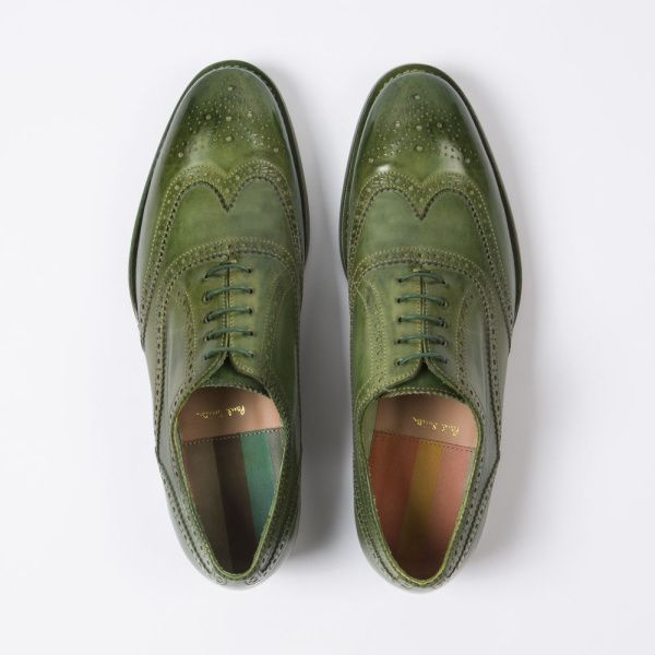 Paul Smith Men S Green Parma Calf Leather Christo Brogues Paul