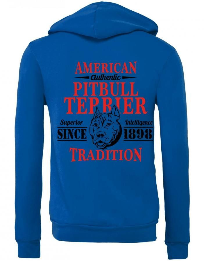 Authentic American Pit Bull Terrier Tradition Zipper Hoodie