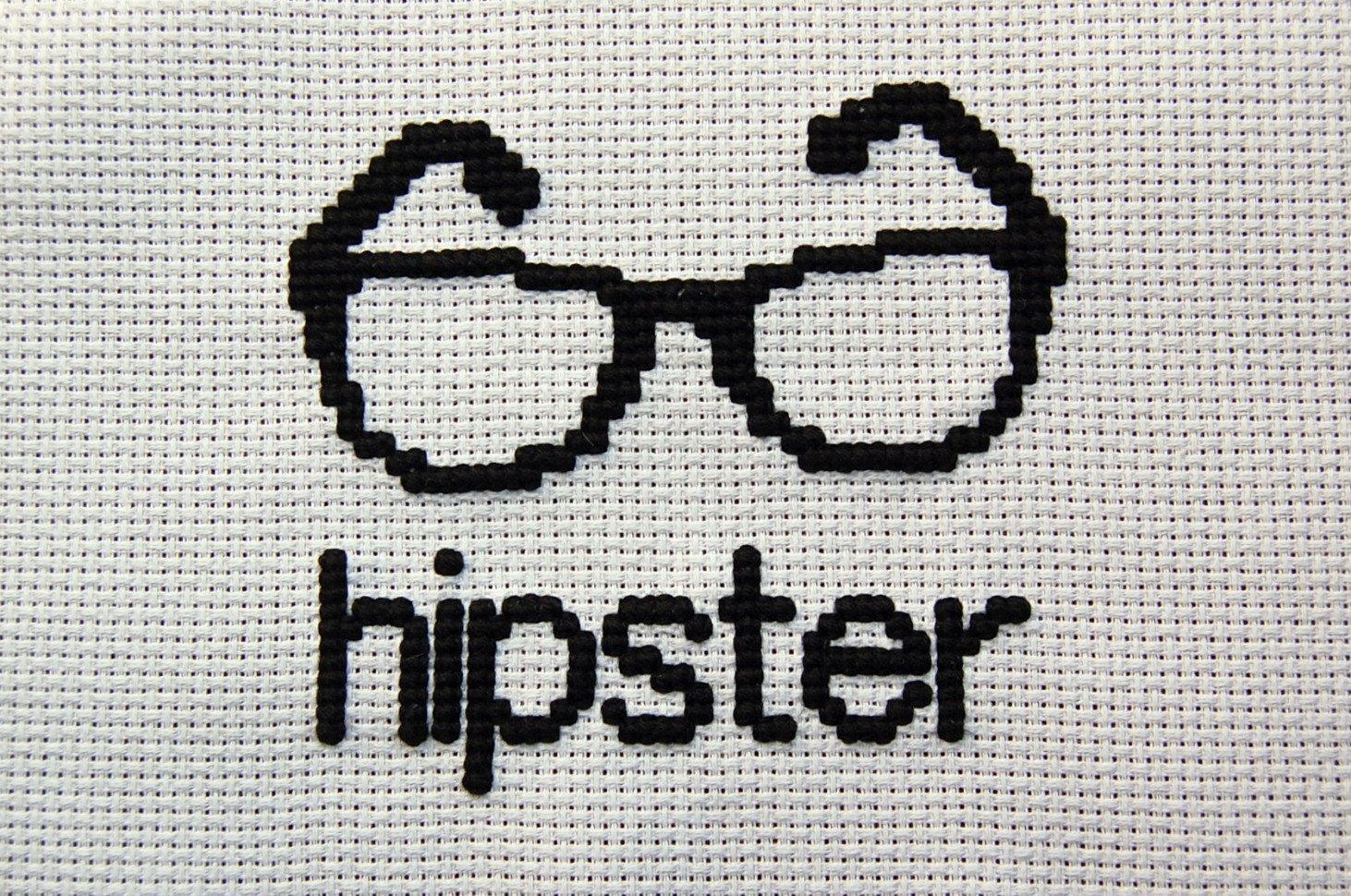 Hipster Cross Stitch. $30.00, via Etsy. | Cross Stitch ...