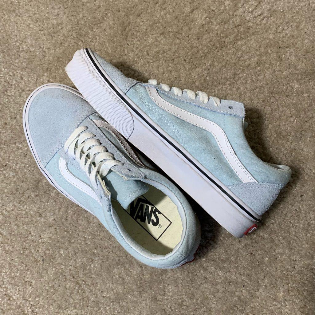Baby blue vans Old Skool   Blue vans