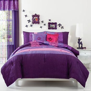 Seventeen Rhianna Purple Comforter Set More Jcpenney Purple