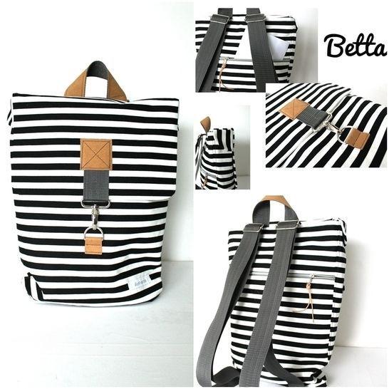 ebook BETTA, sac ou sac à dos en 2 tailles – sans fermeture éclair   – Taschen | Schnittmuster