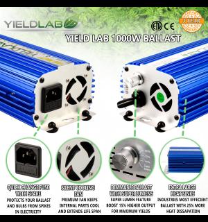 Yield Lab 1000w Hps Cool Tube Hood Reflector Grow Light Kit In 2020 Grow Lights Light Hanger Cool Stuff