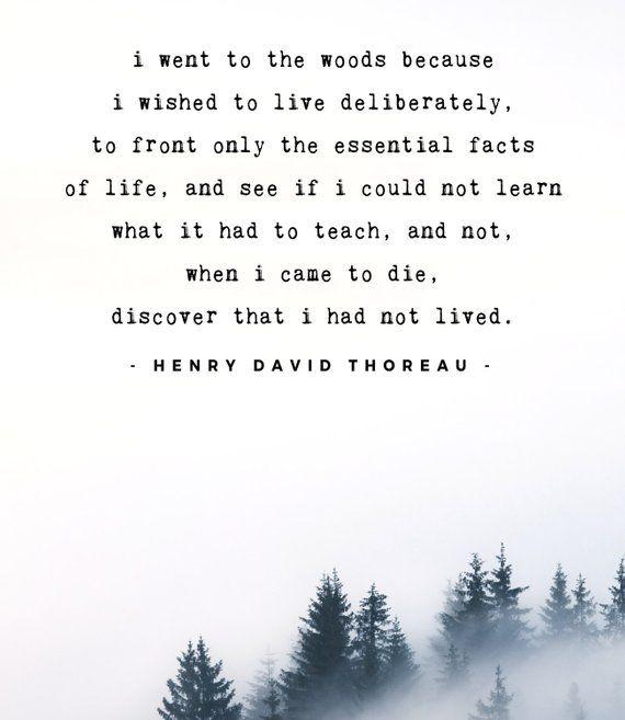 Henry David Thoreau quote - Henry David Thoreau print - Printable men gift - Climber gift - Hiker gi