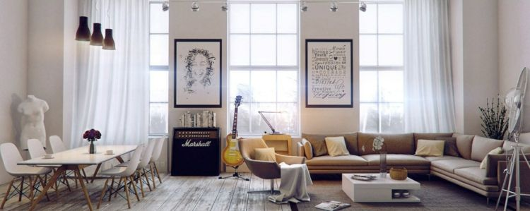 Décoration salon salle à manger comment optimiser lu0027espace House