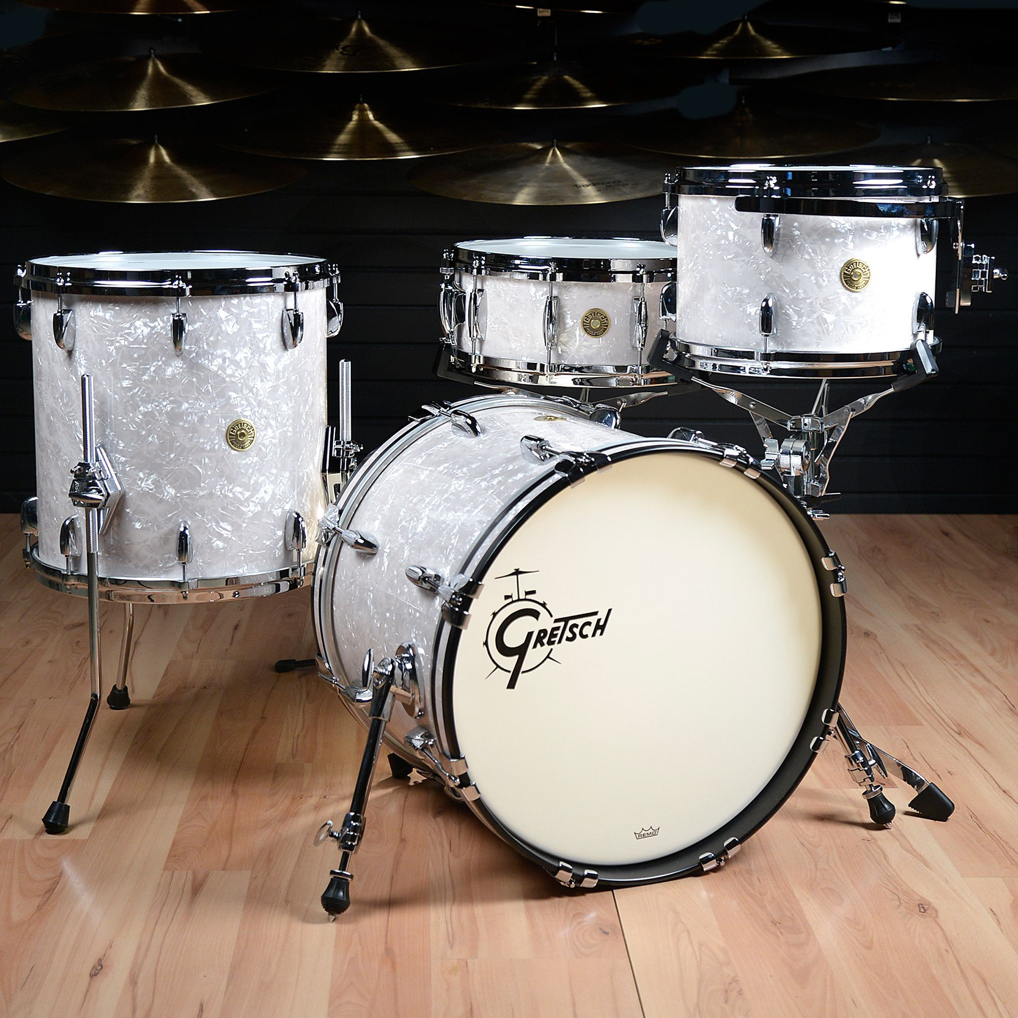 gretsch usa custom 12 14 18 4pc drum kit vintage marine pearl drum dreams pinterest. Black Bedroom Furniture Sets. Home Design Ideas