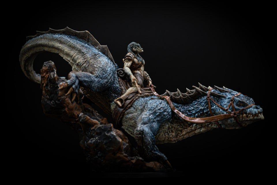 Giant Lizard Mount Miniature Monster Tabletop Figurine | Etsy