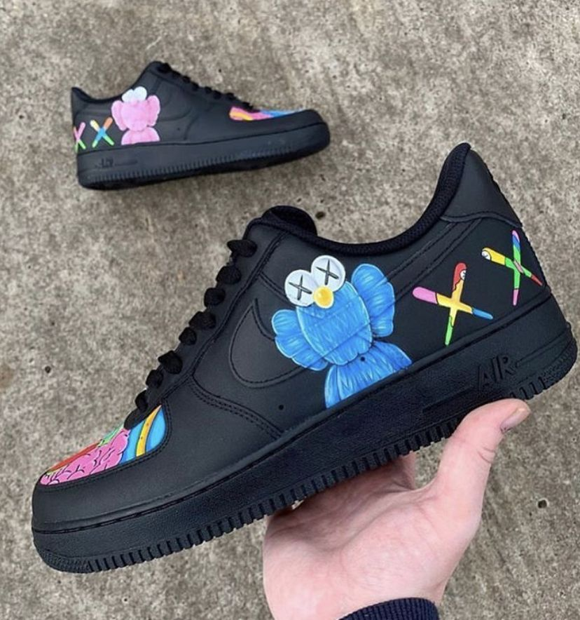 Kaws Air Force 1 in 2020 Hype shoes, Nike air shoes