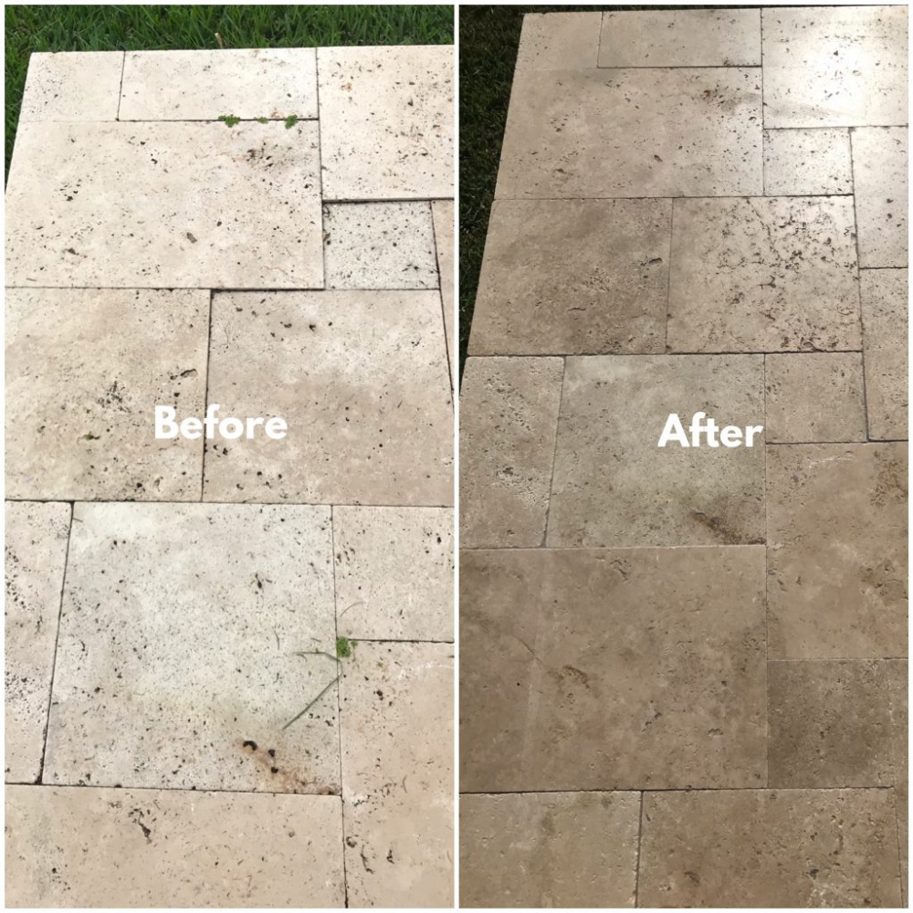 Travertine Paver Sealing, Cleaning and Repair Palm Beach