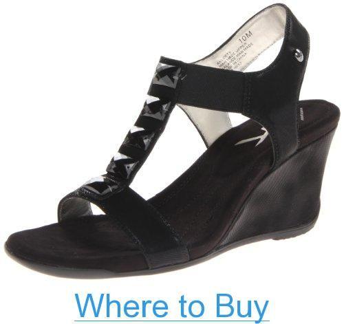f882c9f77f70 AK Anne Klein Sport Women s Lofty Synthetic Wedge Sandal