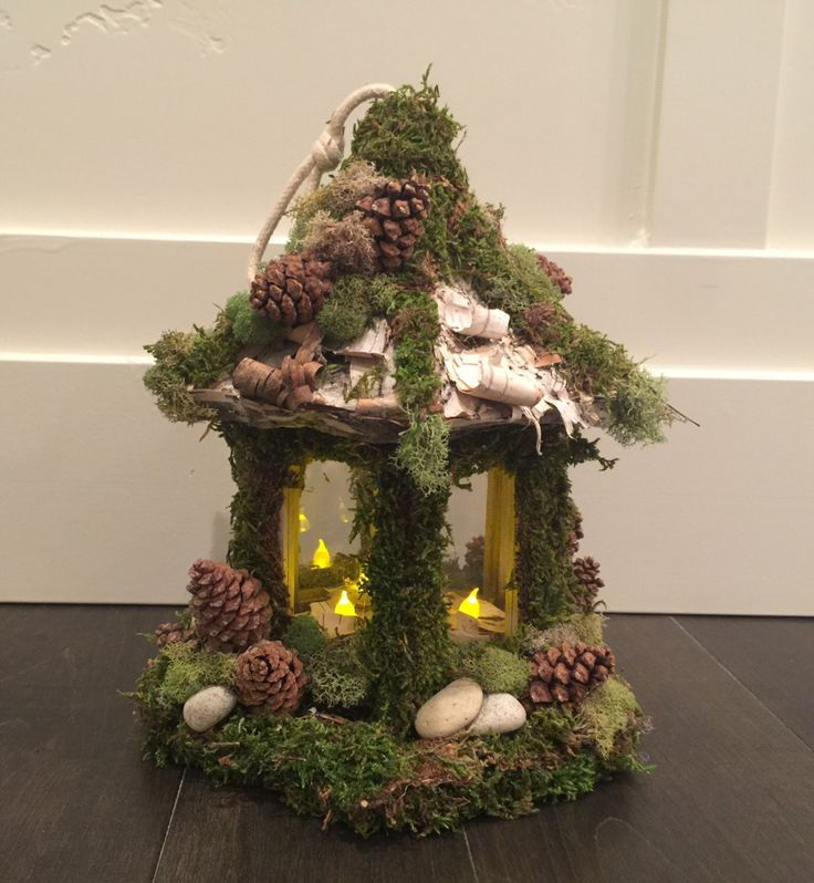 Centerpiece Candle , Enchanted Forest, Tinkerbell, Cake Topper, Wedding,  Party,yard Decor, Lighted, Home Decor, Fairy House