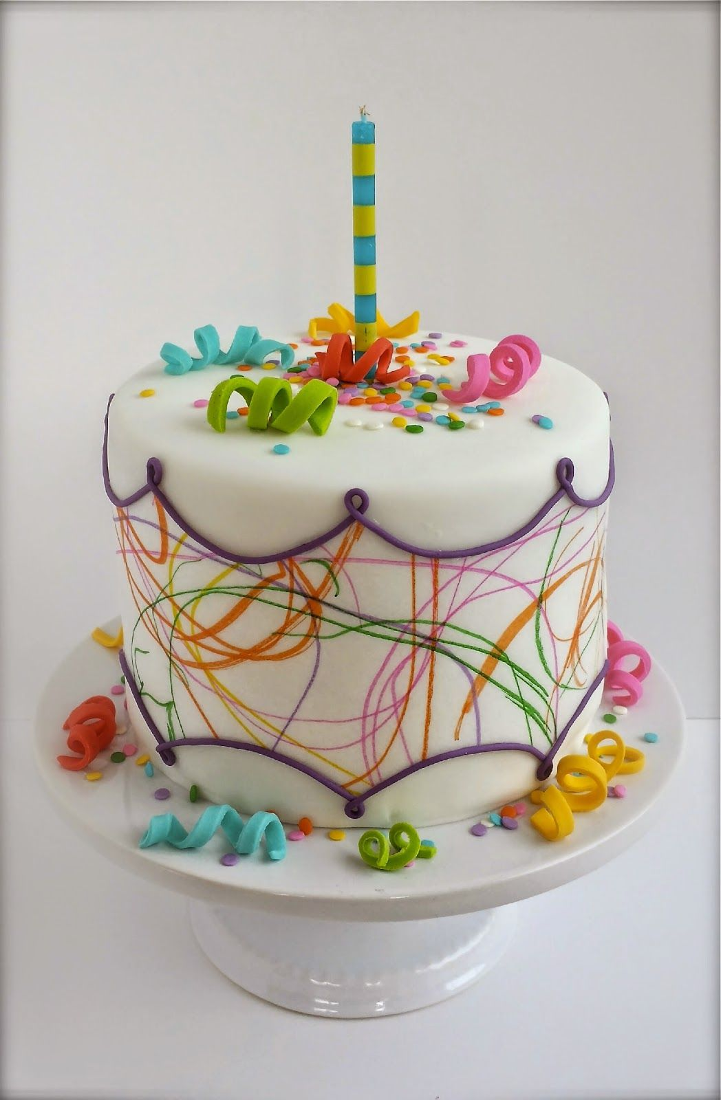 Toddler Art Birthday Cake kids use edible markers and wafer paper